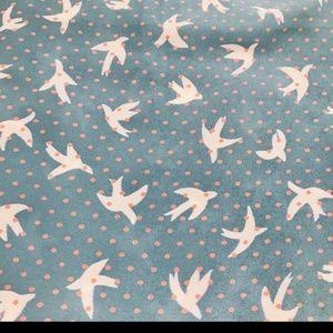 Pleione Tops - Pleione light blue bird shirt small